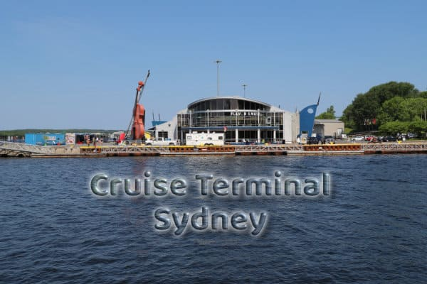 The Cruise Terminal Sydney. View from the Boardwalk