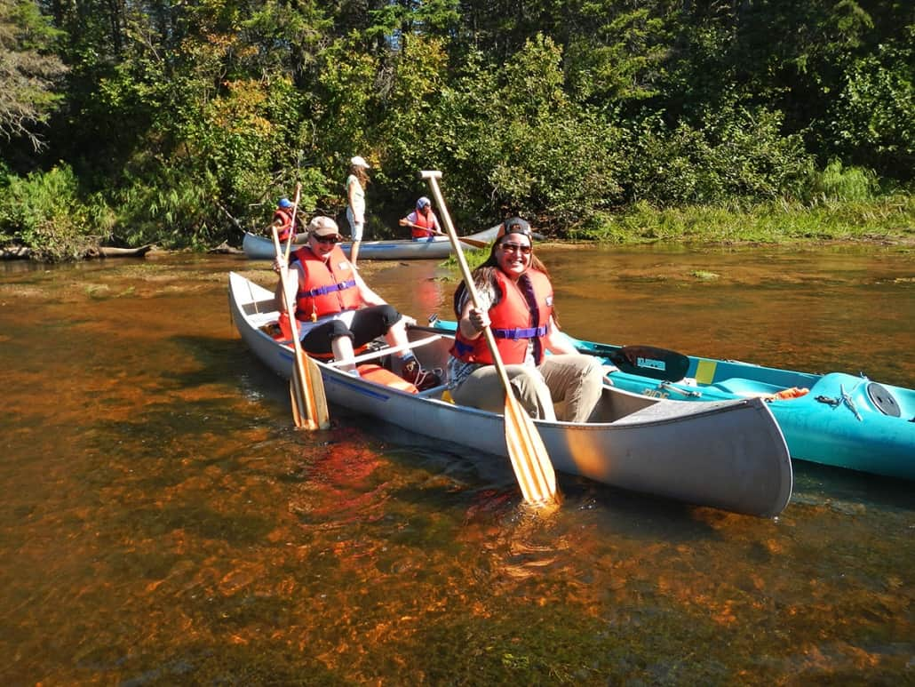 Canoe tour with Vipilodge guests
